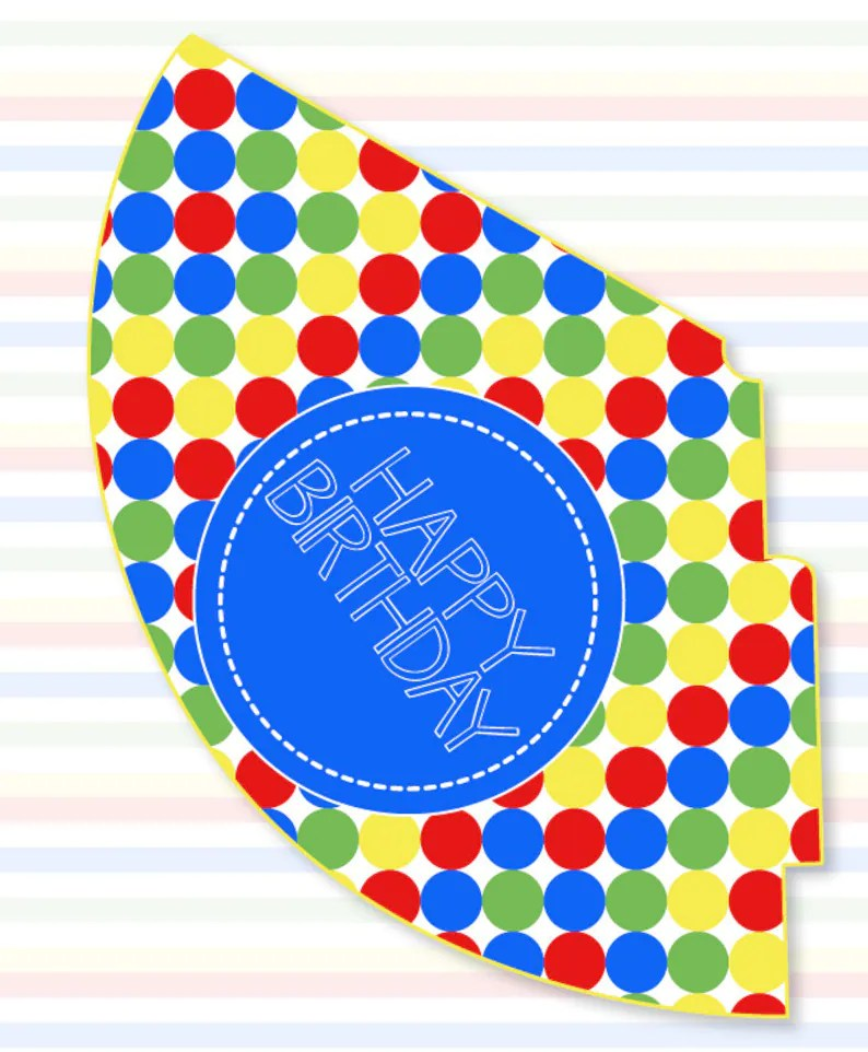 Sesame Street Party PRINTABLE Birthday Hat INSTANT DOWNLOAD Etsy