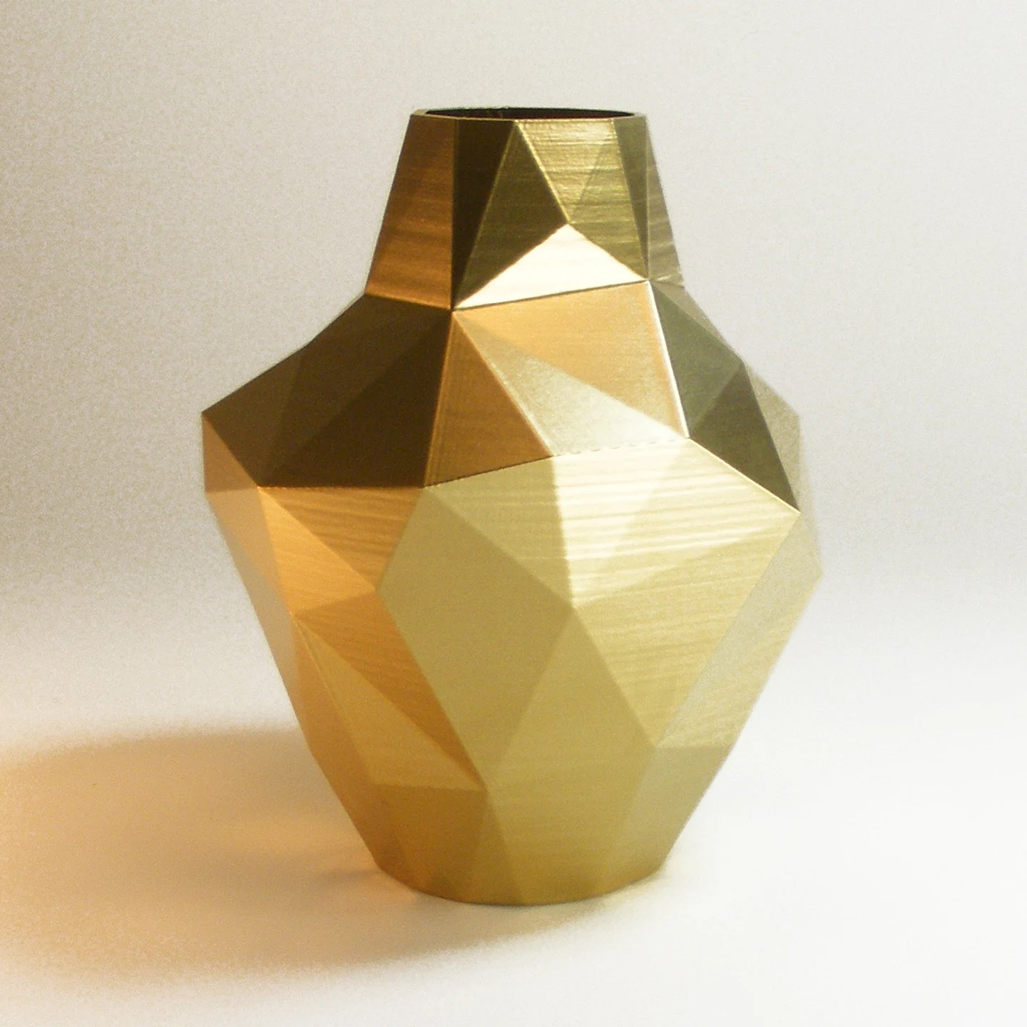 Vase Gold Decorative Vases Modern Gold Vase Abstract Zen Decor Golden Decor Golden Triangle Vase Gold Decor Gold Bud Vase Modern Vase