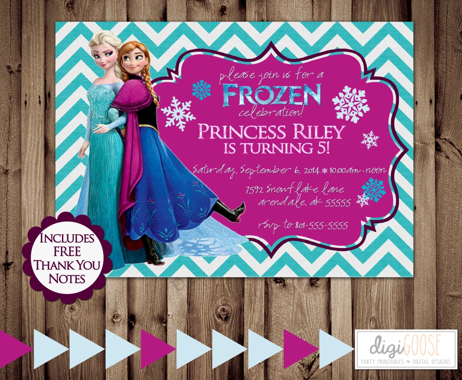 Printable FROZEN Personalized Birthday Party Favors Gift Tagsfrozen