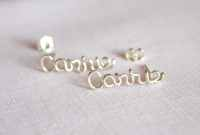 Name or Word Earrings Cartilage or Lobe Earrings Pair of ...