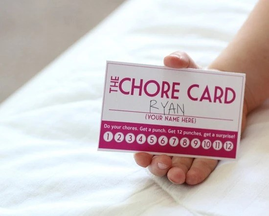 INSTANT DOWNLOAD DIY Printable Punch Cards 4 colors chore - punch cards