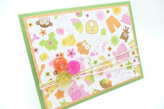Baby Girl Congratulations Card Congratulations Baby Shower Etsy