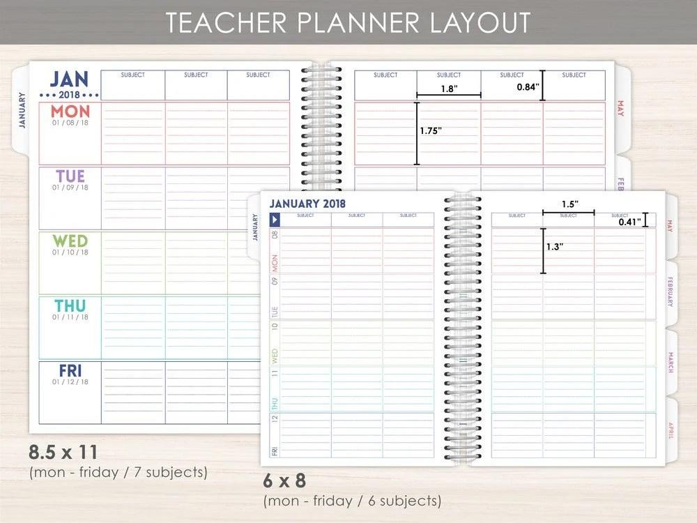 Teacher Daily Planner Teacher Weekly Planner Best Planner Etsy