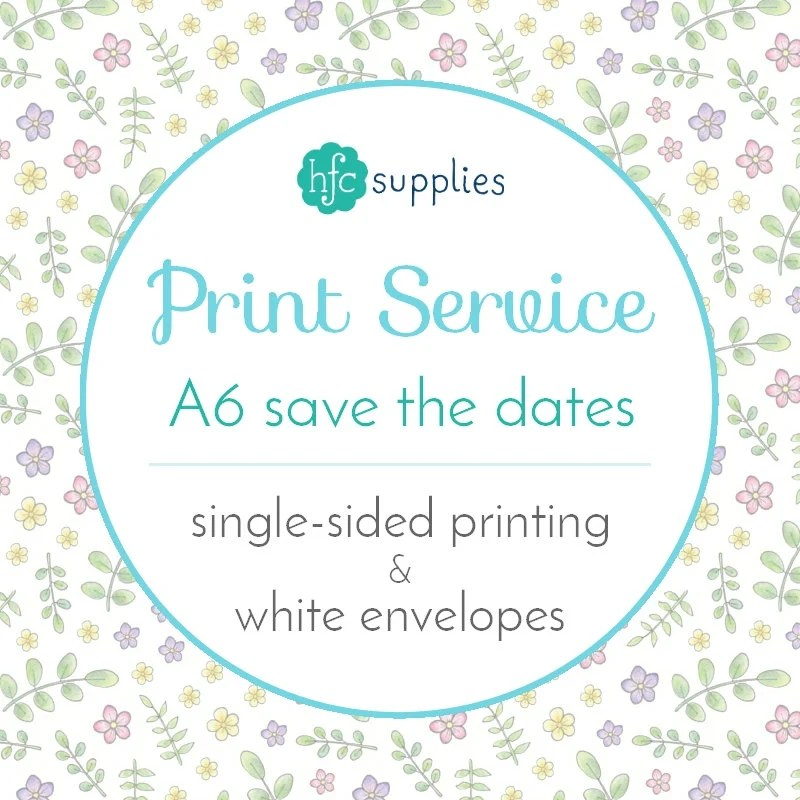 Printed Save the Date cards / RSVP cards Add On - A6 Professional