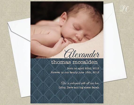 1920\u0027s Adoption Announcement Birth Announcement Baby