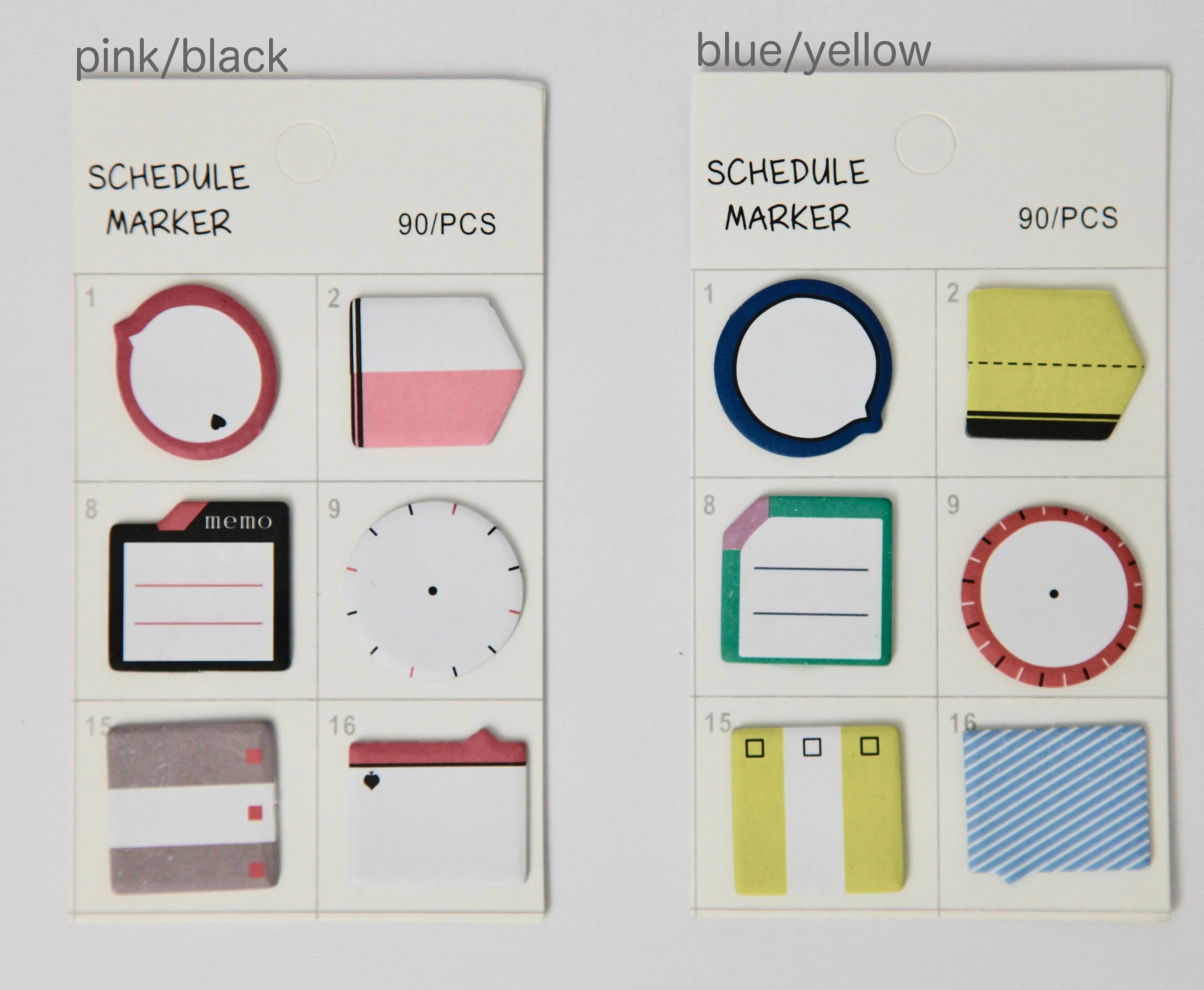 Schedule Marker Mini Sticky Notes Etsy