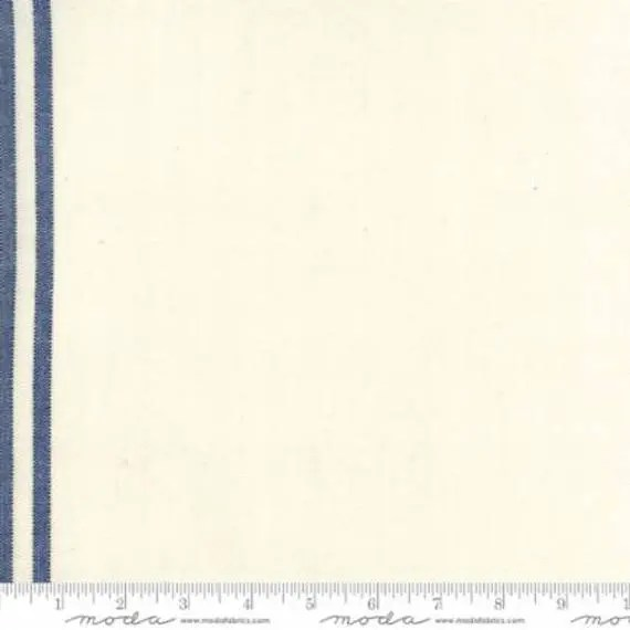 """16"""" Toweling - Cream and Blue"""