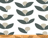 Lotta Jansdotter Fabric - Glimma - Flowers in Slate