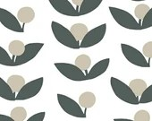 Lotta Jansdotter Fabric - Glimma - Flowers in Slate