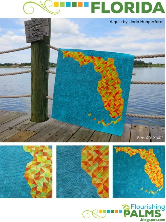 Florida Quilt PRINT Pattern by Linda Hungerford
