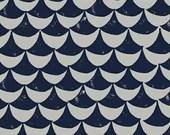 Lotta Jansdotter Fabric - Hemma - Orancy in Denim