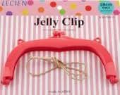 Jelly Clip - Hot Pink - 7""