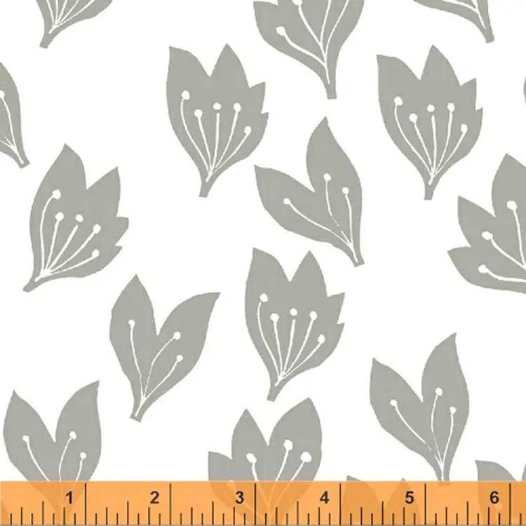 Lotta Jansdotter Fabric - Limmikki - Mikki in Light Grey