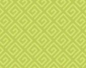 Modern Key Quilt Backing Fabric - Avocado