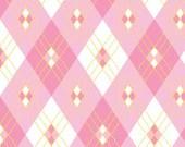 Emma Jean Jansen Fabric - 60's Scrap Bag -  Zara Pink