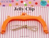 "Jelly Clip - Orange - 7"""