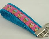 Key Fob made with Cotton Webbing and Designer Ribbon