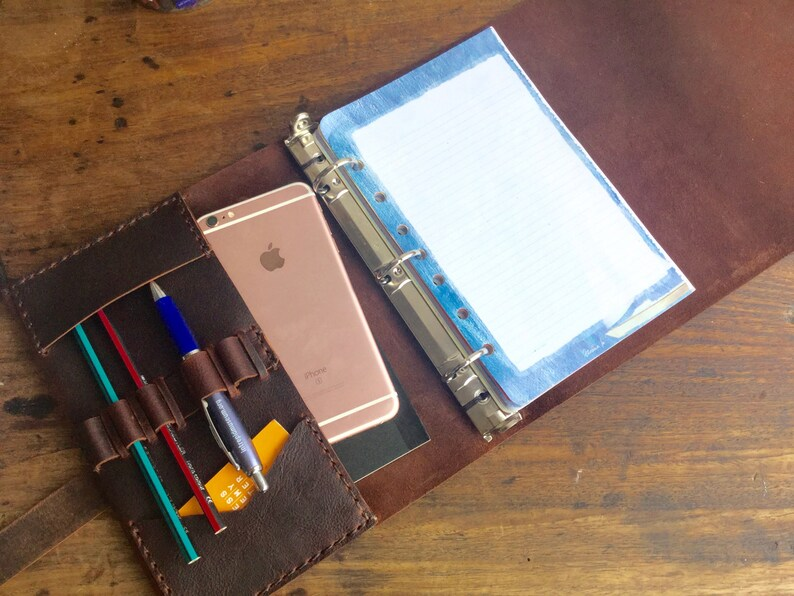Half page binder A5 pocket planner Small 3 ring binder Etsy