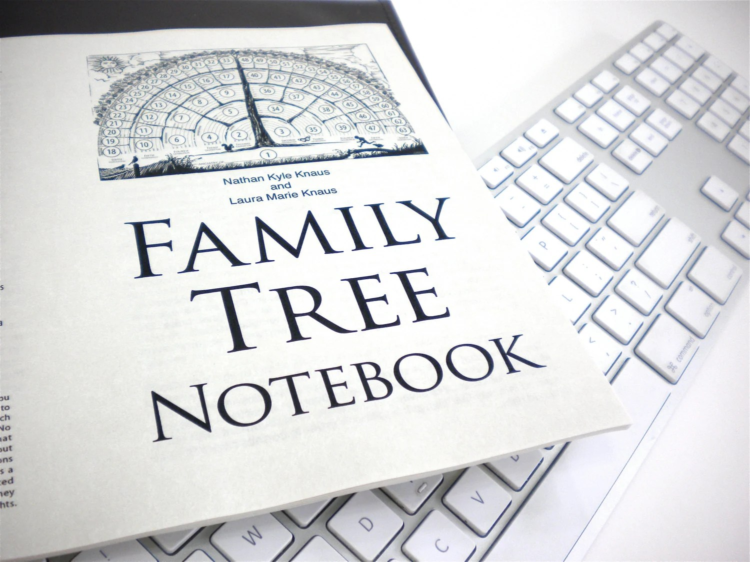 Family Tree Notebook printable pdf-fill-in-blank-template Etsy