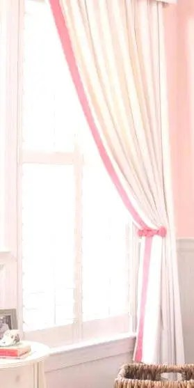 Ribbon Trim Curtains White Curtain With Pink Grosgrain Ribbon Trim Color Options