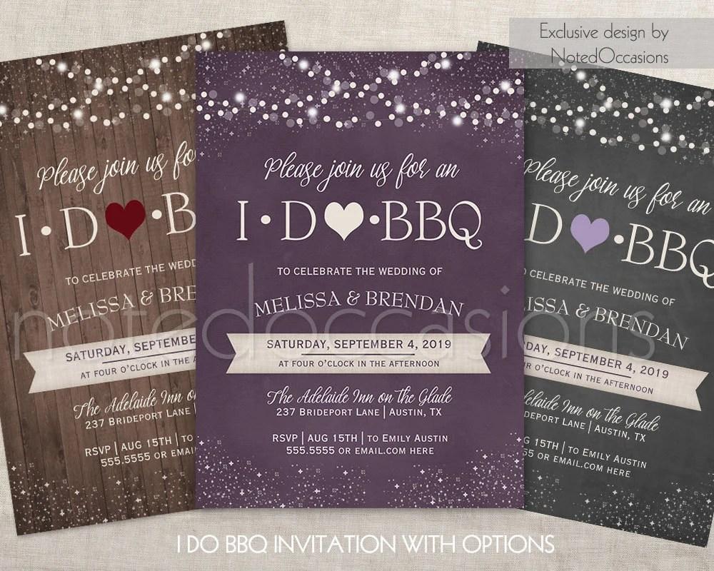 I DO BBQ Invitations Printable I Do Barbeque Wedding Reception Only Wedding  shower, Printable Digital Invitation Wedding Country Design