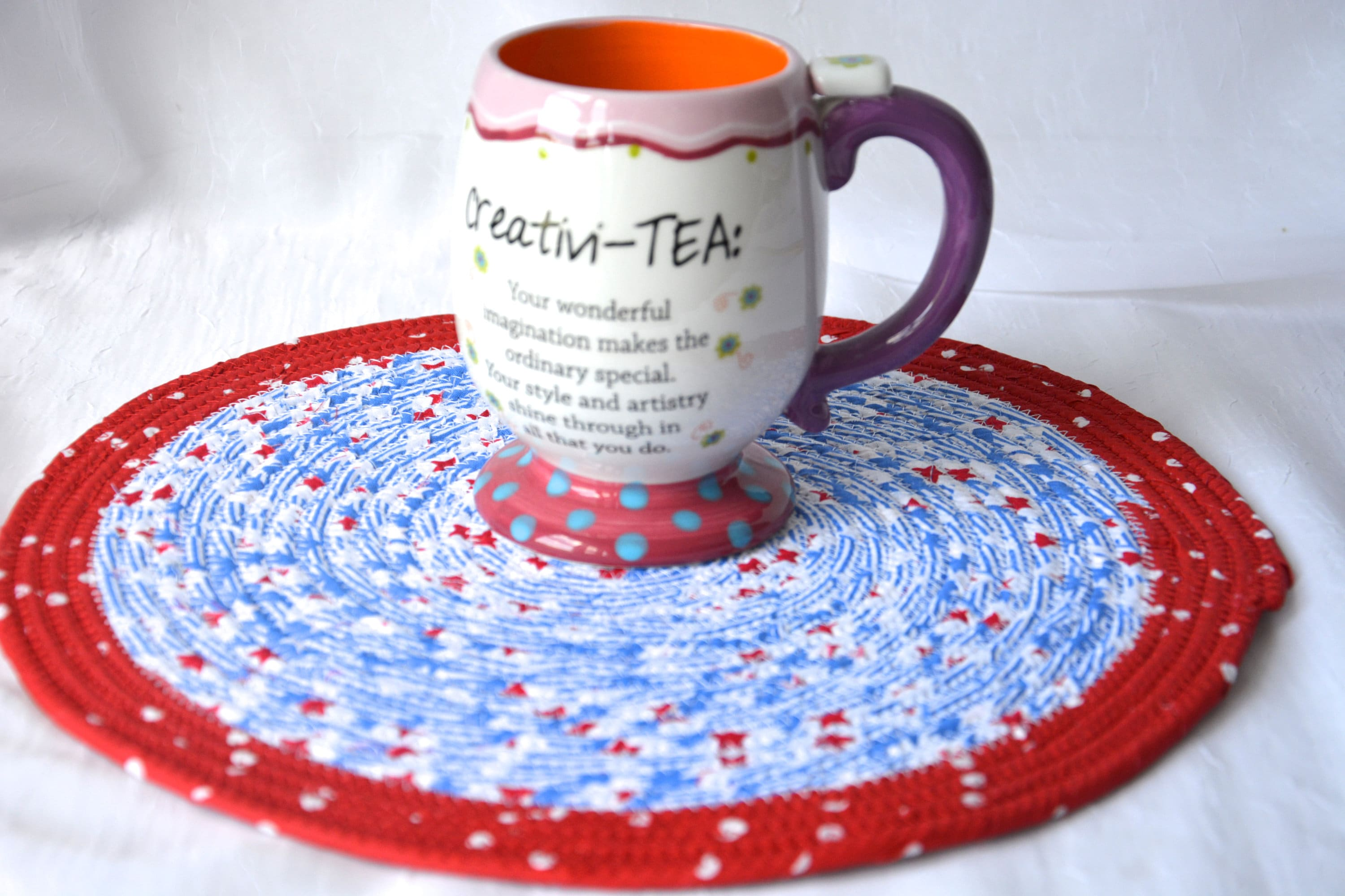 Picnic Decor Summer Picnic Decor Place Mat 12 Handmade Red White And
