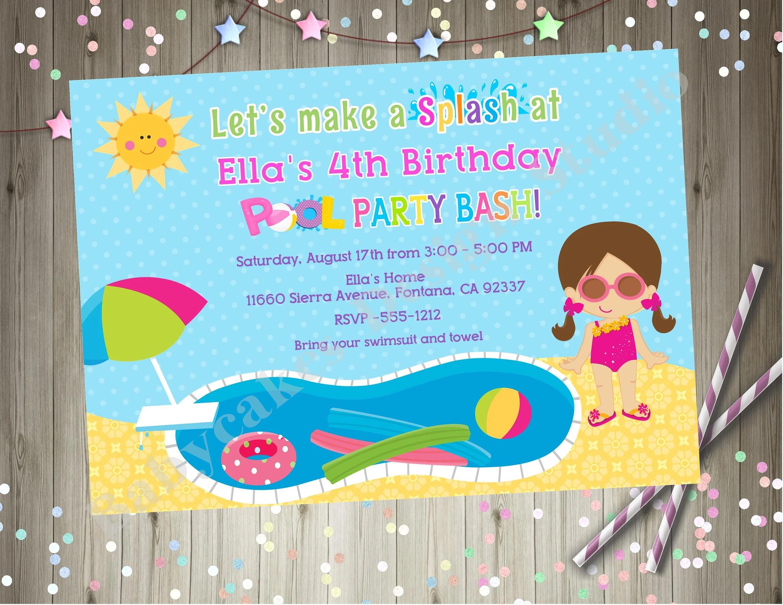pool party invitation cards - Nisatasj-plus