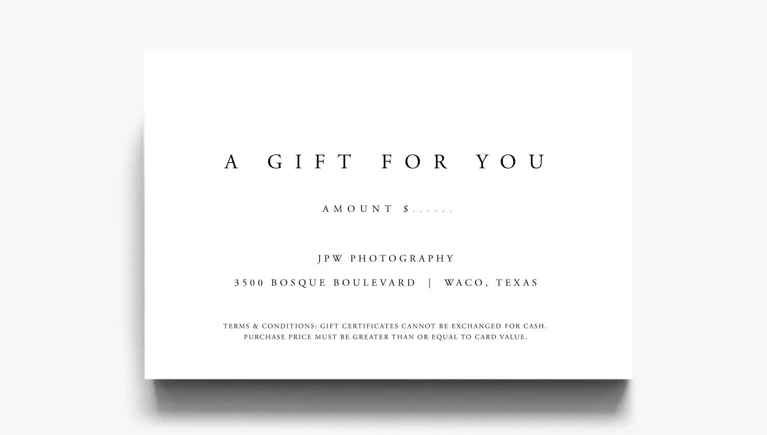 Gift Certificate Template A Gift For You Gift Voucher Etsy