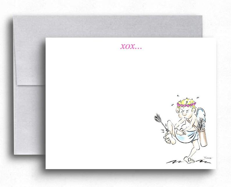 Cupid Cartoon Love Postcard Cute Postcards I Love You Etsy