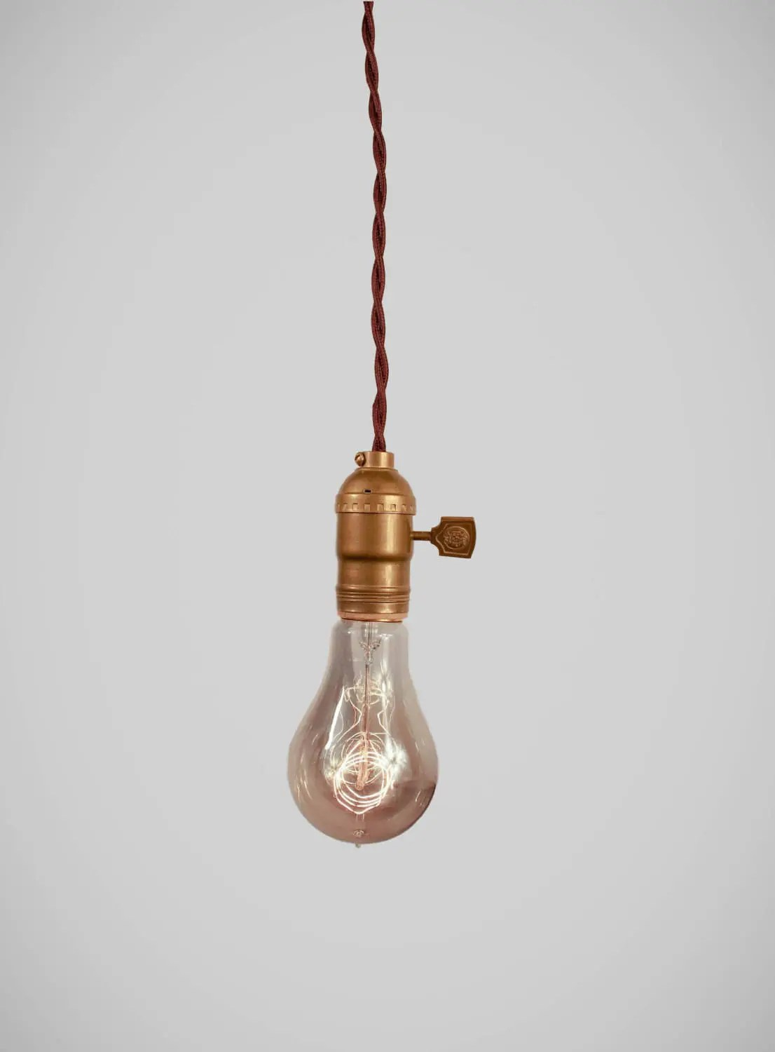 Hanging Lamp Vintage Pendant Light Cloth Cord Industrial Hanging Lamp Bare Bulb Minimalist Light Socket Antique Swag Victorian Chandelier
