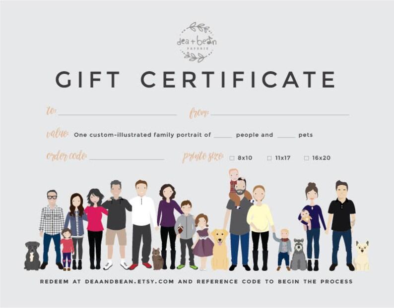 Gift card gift certificate Gift certificate for Christmas Etsy