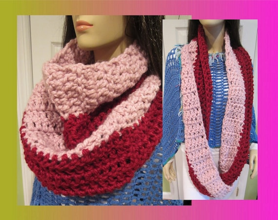 Chunky Cowl Scarf Warm And Extra Long Double Wrap Wool