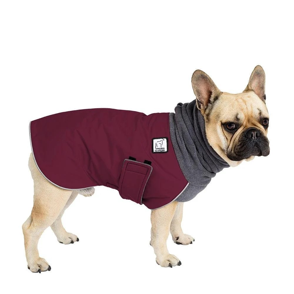 Dog Side My Side Bettwäsche French Bulldog Winter Coat Winter Dog Coat Waterproof Winter Jacket Winter Clothes Fleece Neck Warmer Dog Snood Dog Clothes