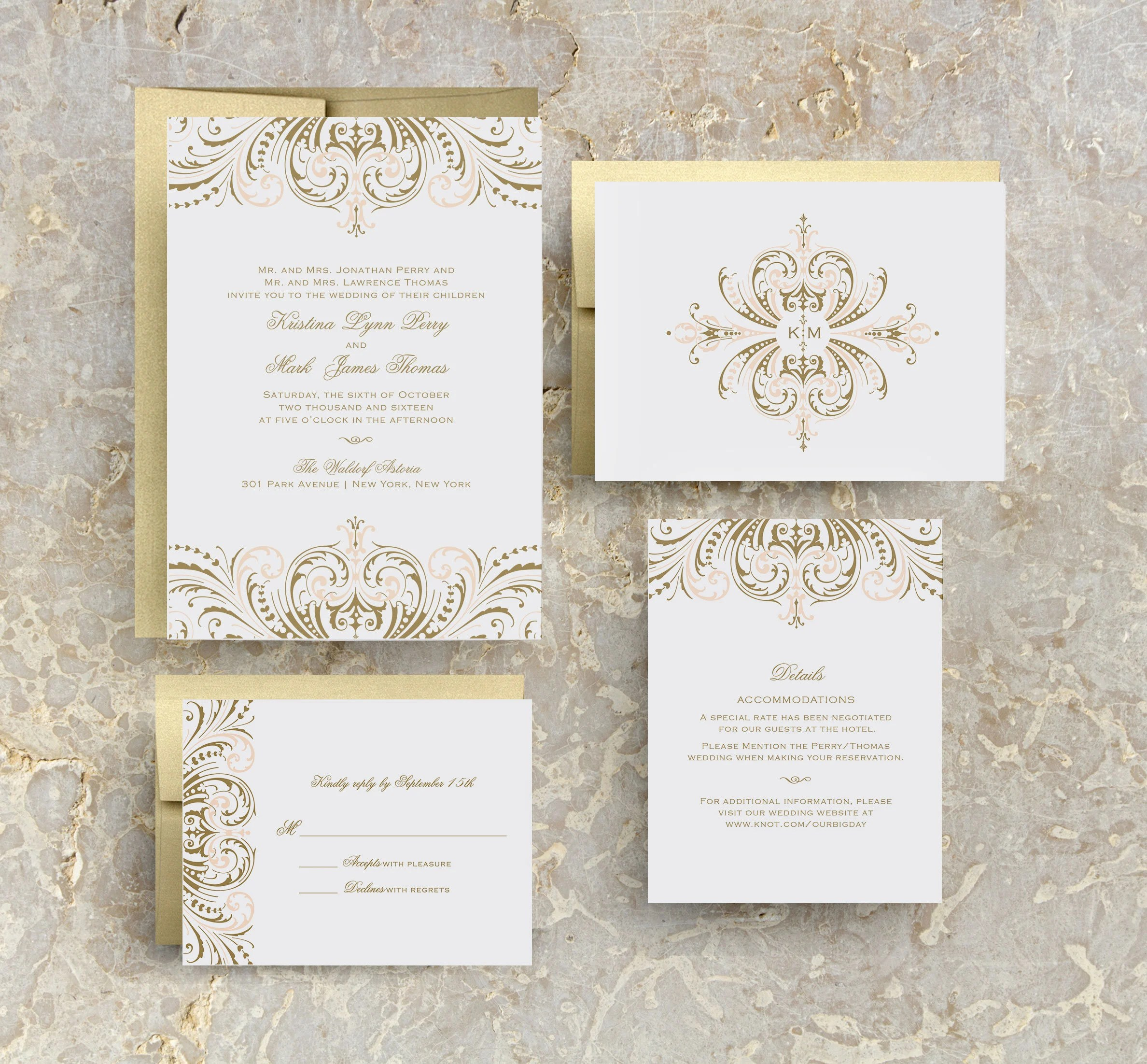 Diy Wedding Invitations With Photo Blush Pink And Gold Wedding Invitations Diy Wedding Invitation Suite Great Gatsby Wedding Invitation Rose Gold Wedding Invitations