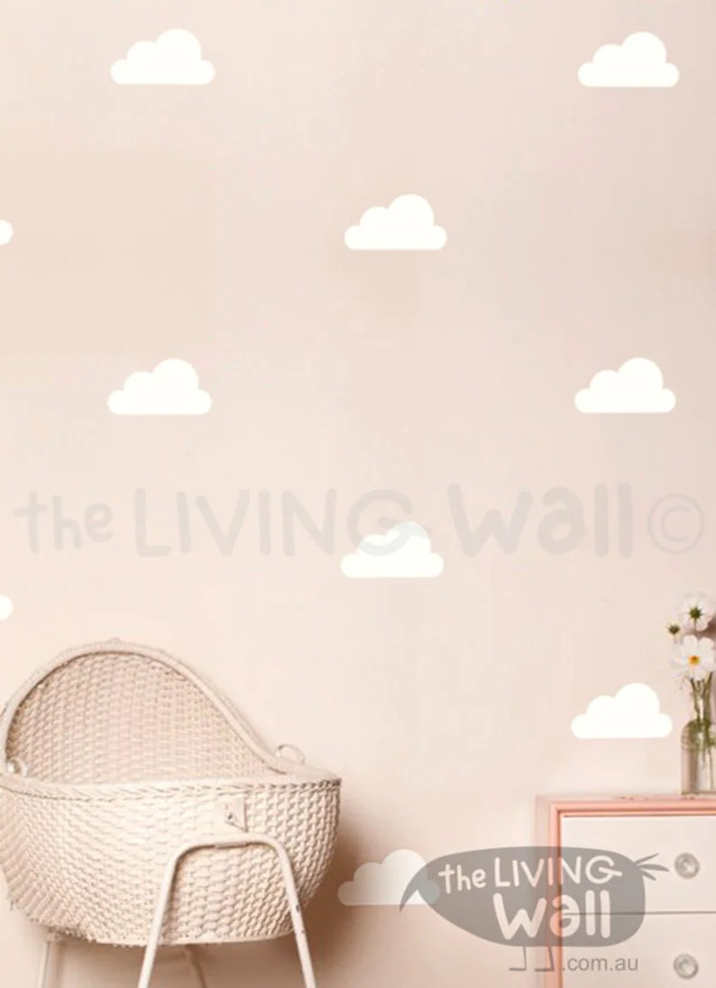 Wolken Kinderkamer Gelukkig Wolken Muur Stickers Cloud Decal Witte Wolk Wall Stickers Kinderkamer Decor Van Wolken Wolk Wall Decor Cloud Kwekerij Wolkenpatroon