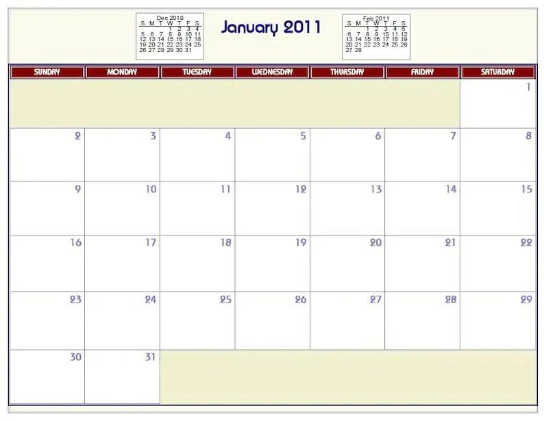 Printable PDF Wall Calendar 2015 2016 2017 2018etc Etsy