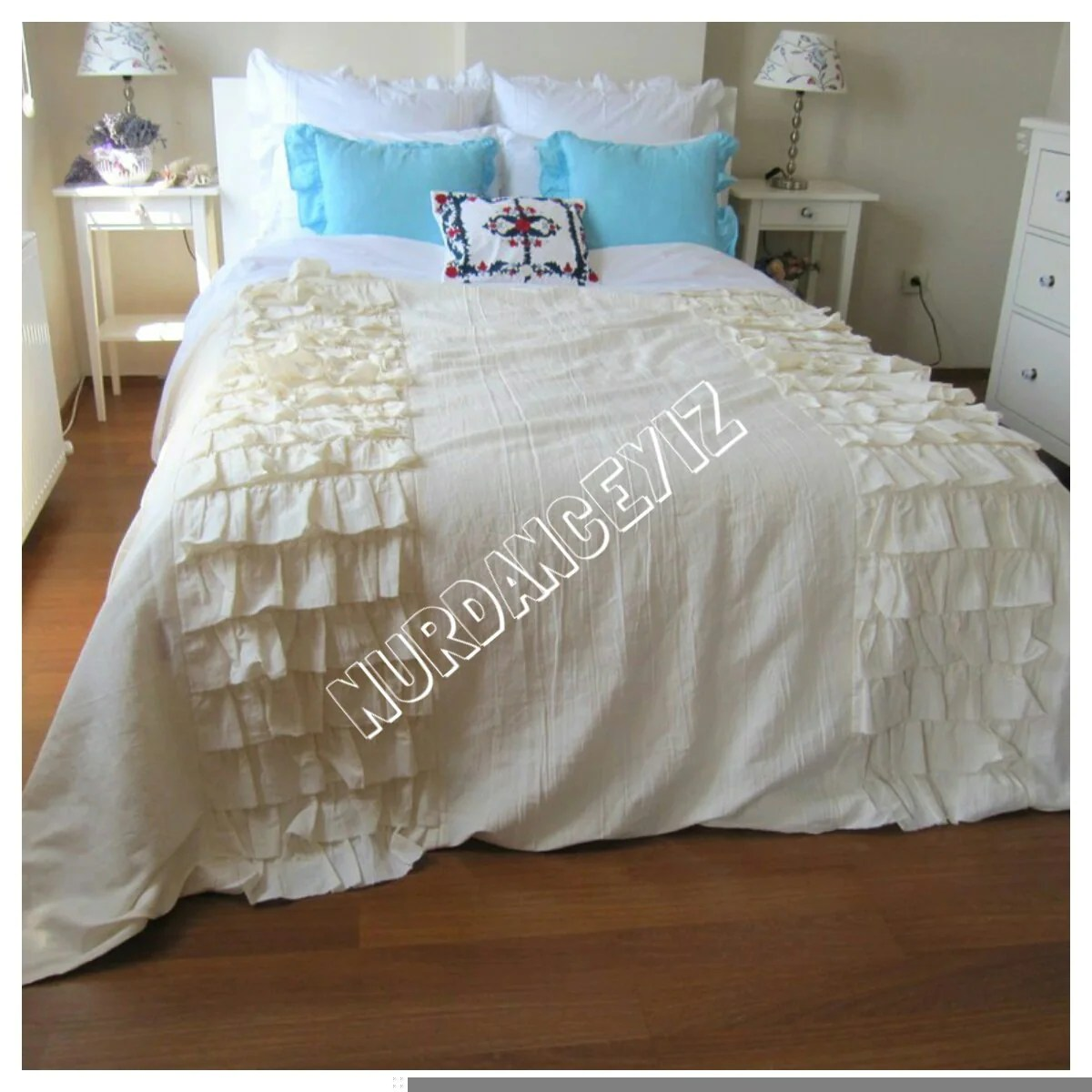Cotton Bed Linen Sale Sale Tier Ruffled Bedding Queen King Duvet Cover Bed Linen French Country Farmhouse Home Shabby Chic Beach Bedding Nurdanceyiz Turkey