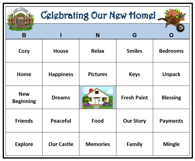 Housewarming Party Bingo Game 30 Cards House and Home Party Etsy