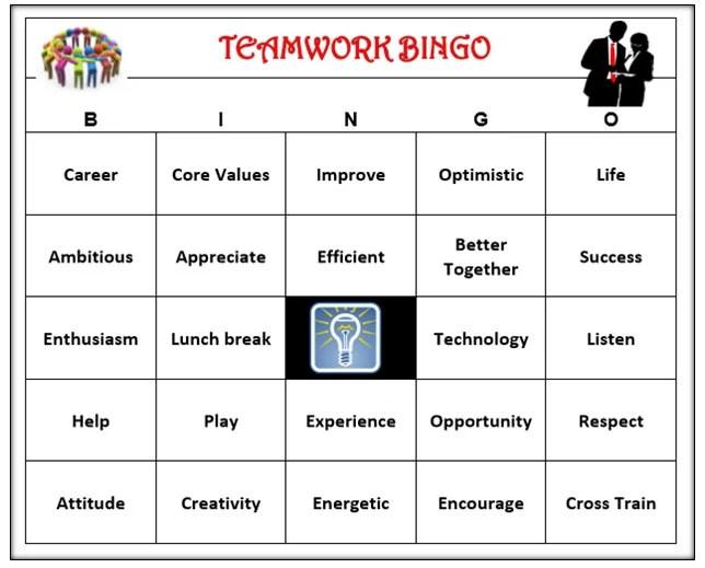 Teamwork Team building Bingo Game Inspire Motivate Fun Etsy