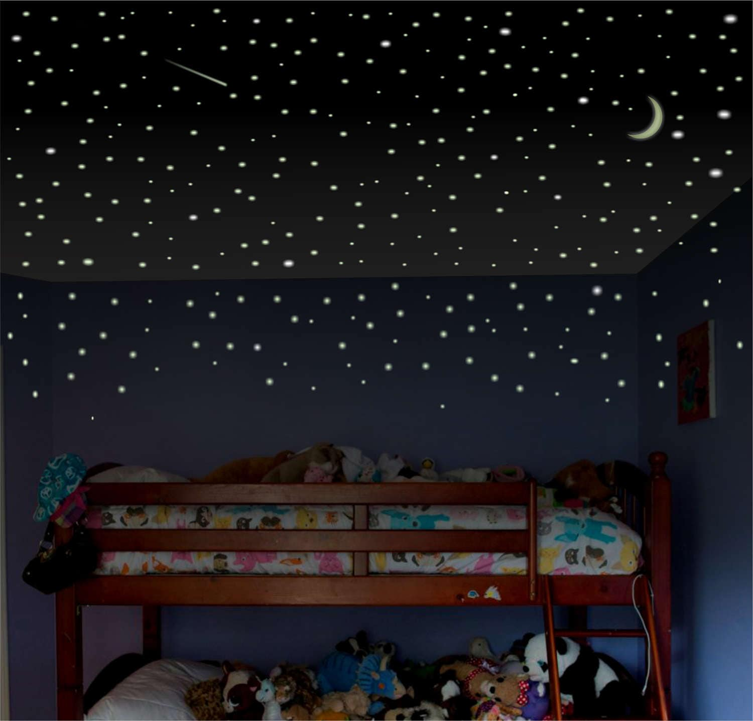 Stars Room Decor Glow In The Dark Stars 1000 Ceiling Stars Glow Stars Glowing Stars Ceiling Stickers Glow In The Dark Stars Kids Room Decor