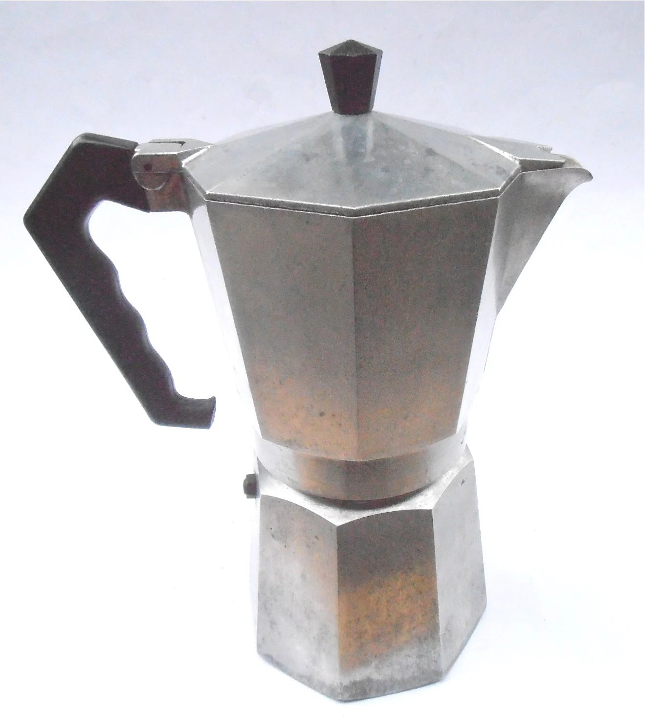 Arte Junior Replay Vintage Junior Express Espresso Coffee Pot Maker Italian Abc Crusinallo Aluminum Stove Top Mid Century Percolator Cafetiere 16 Ounces