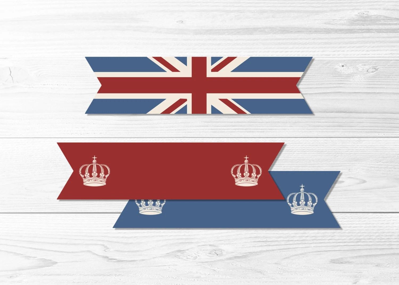 British Flag Party Flags Vintage Union Jack UK Flag Straw Etsy