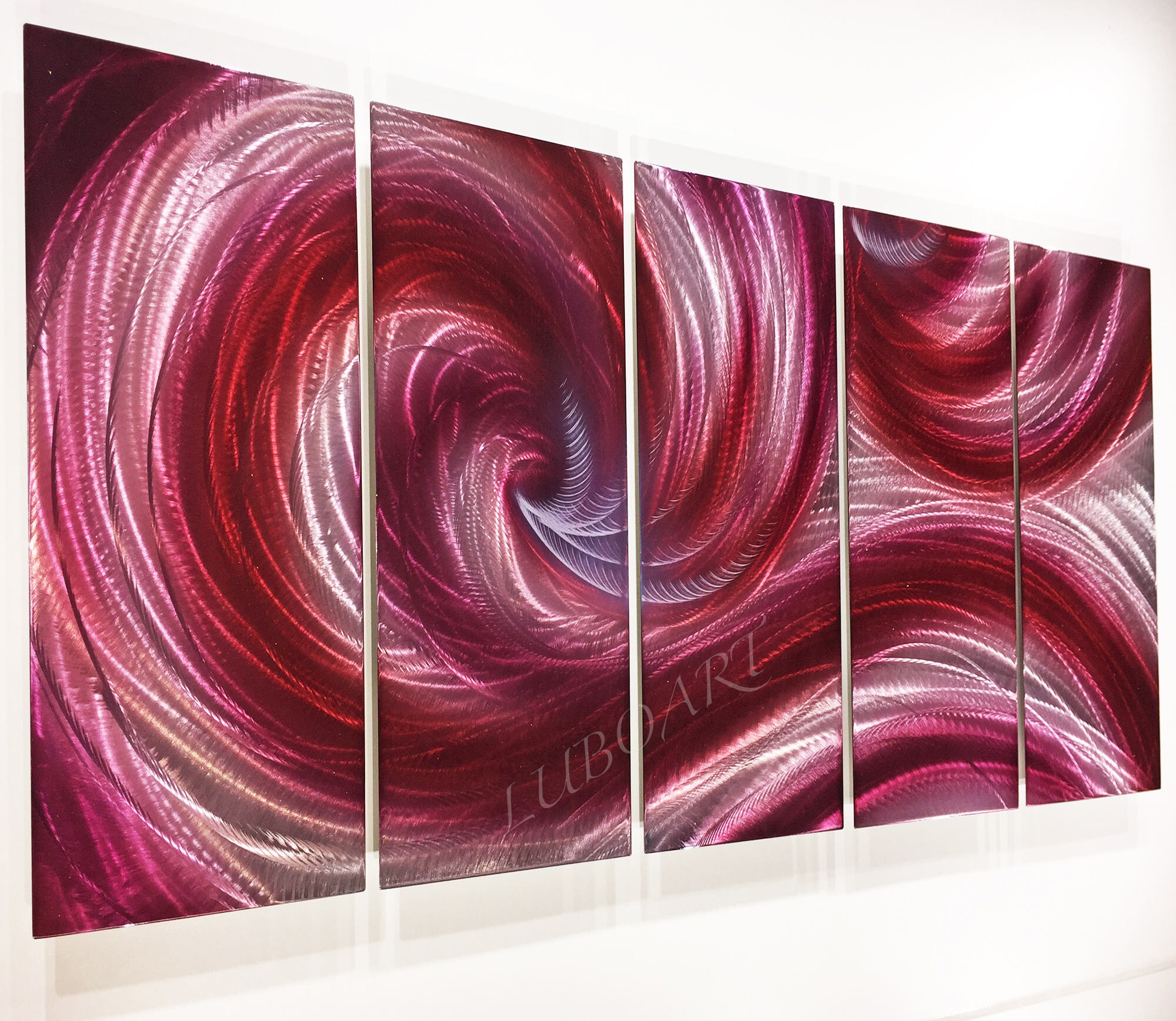Abstract Metal Wall Art Contemporary Modern Decor Original Ocean Malerei Scribeemr Antiquitäten Kunst