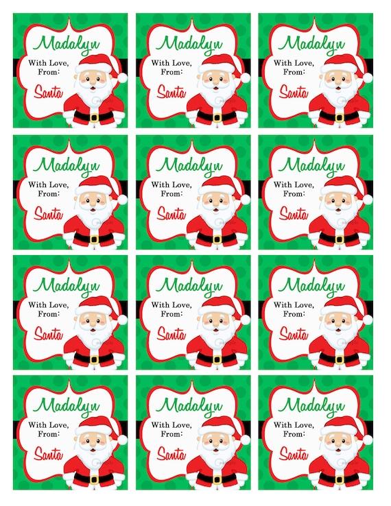 Santa Claus Gift Tags Printable Christmas Tags Christmas QT