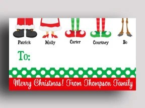 Personalized Christmas Gift Tags PRINTED or PRINTABLE Etsy