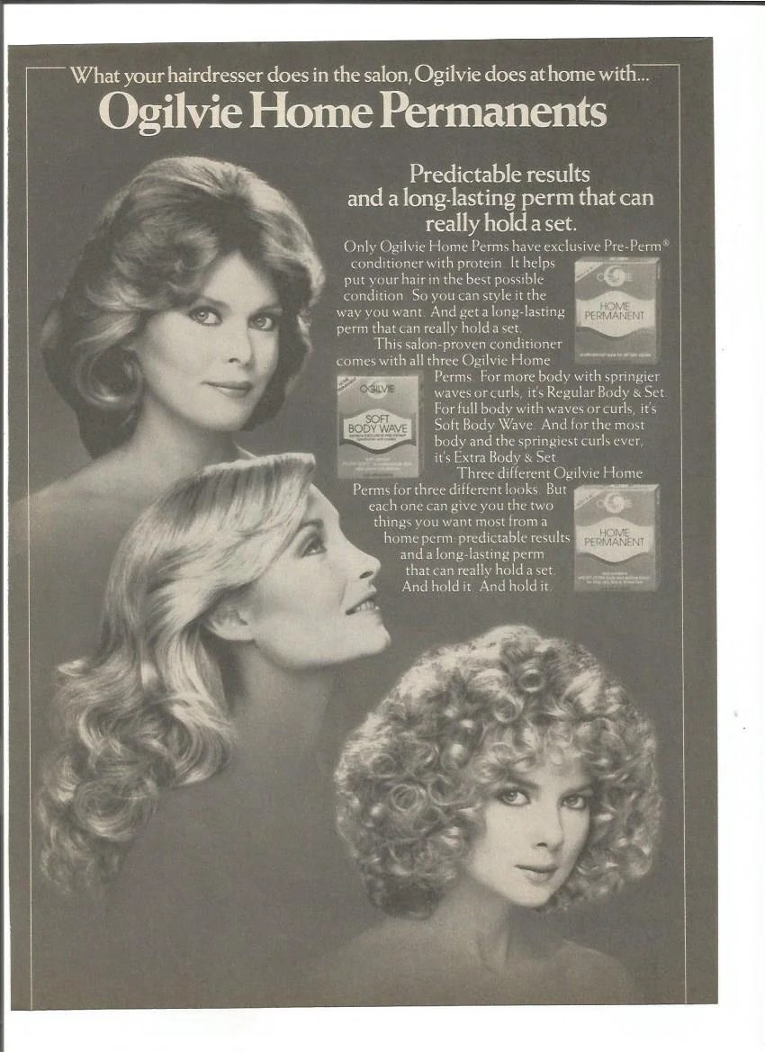 1981 Advertisement Ogilvie Home Perms 80s Permanent Body Wave Etsy