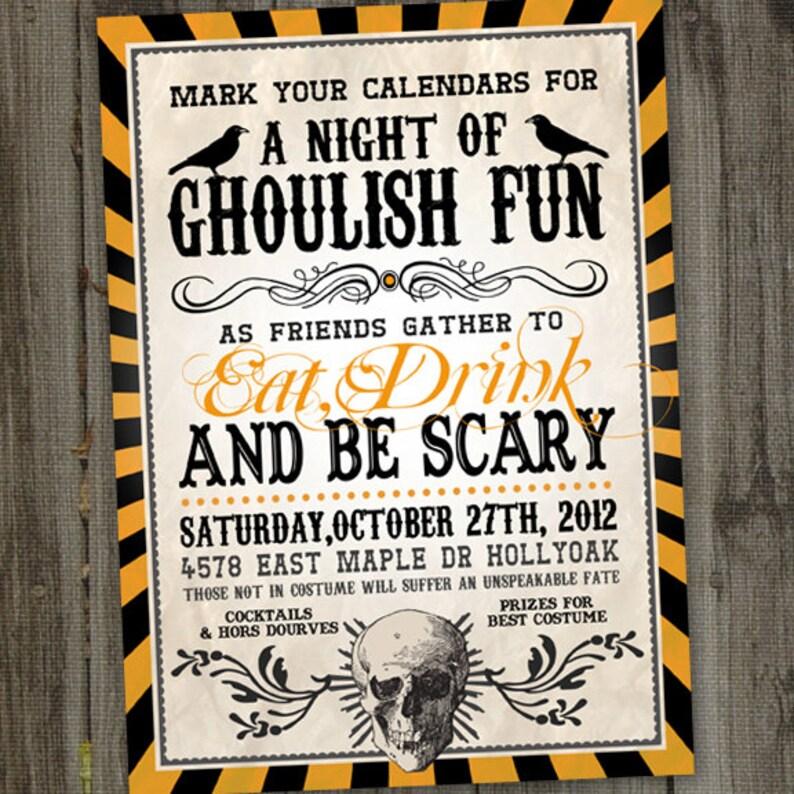 Adult Halloween Party Invitations Halloween Invitation Etsy