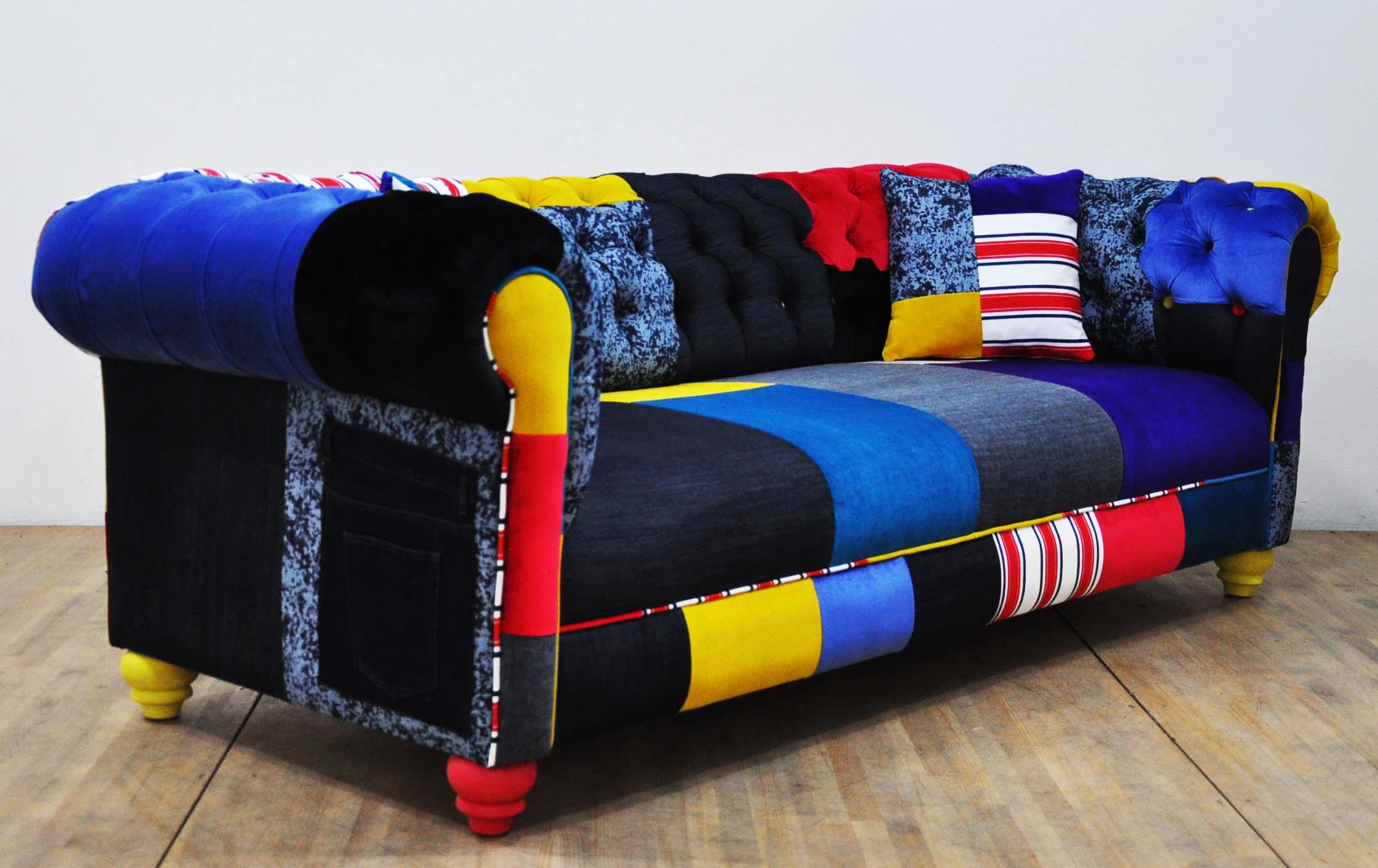 Patchwork Sofa Jean Patch Denim Chesterfield Patchwork Sofa