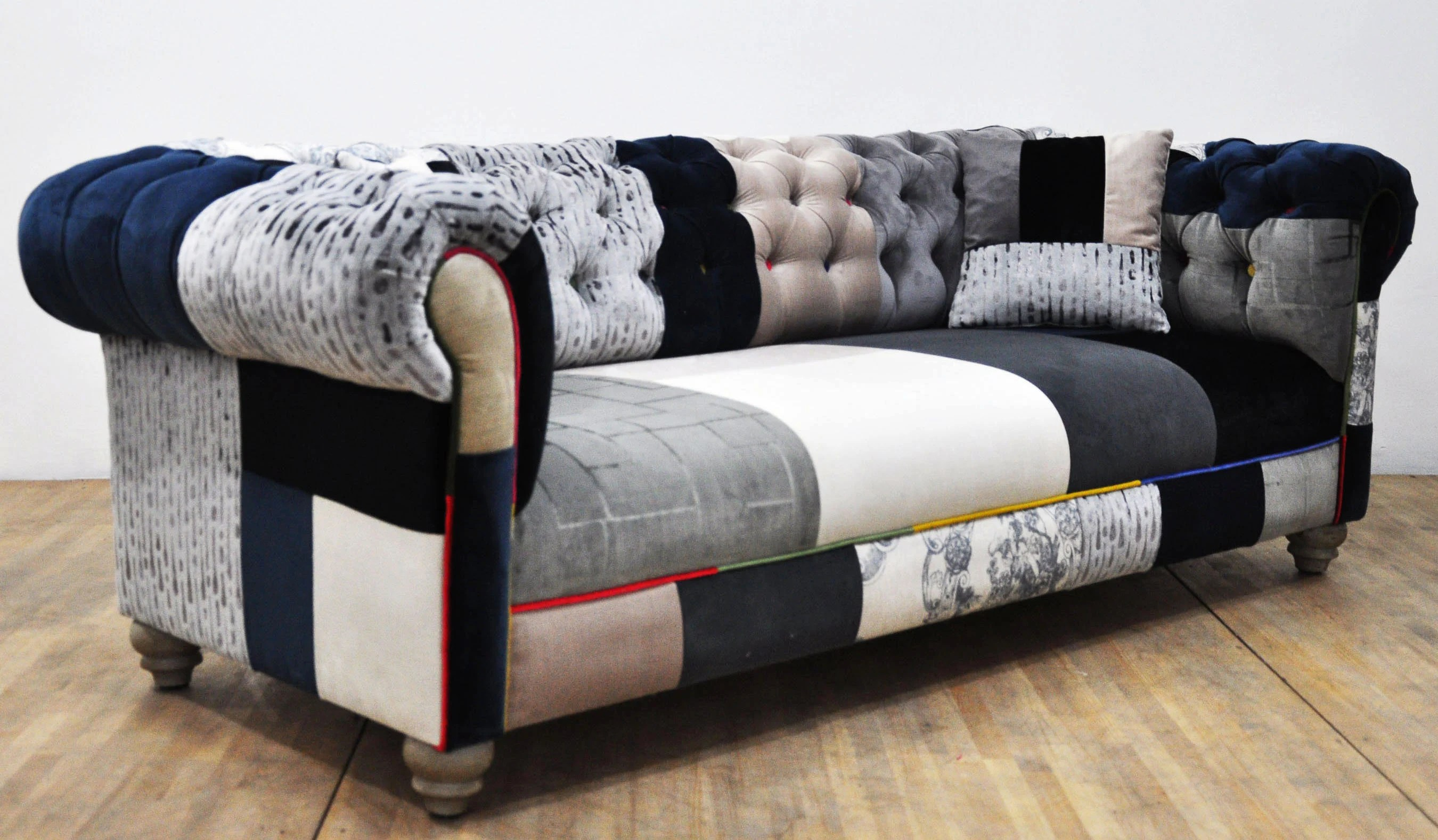 Patchwork Sofa Black White Chesterfield Patchwork Sofa