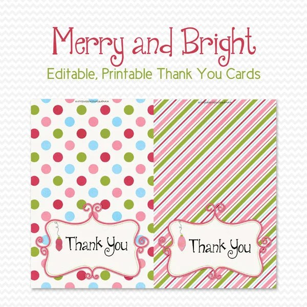 Holiday Thank You Cards, Thank You Notes, Personalized Note Cards